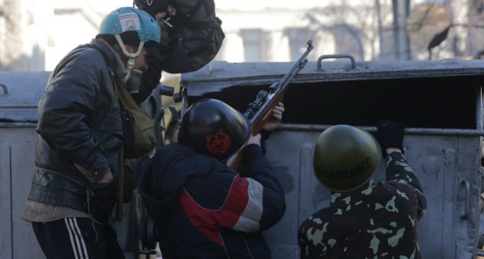 BBC airs Maidan guerilla firing on police in Kiev