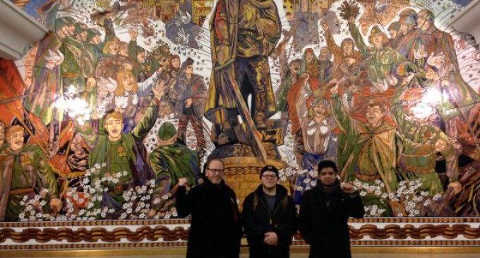 American anti-war delegation in Russia visits Great Patriotic War museum
