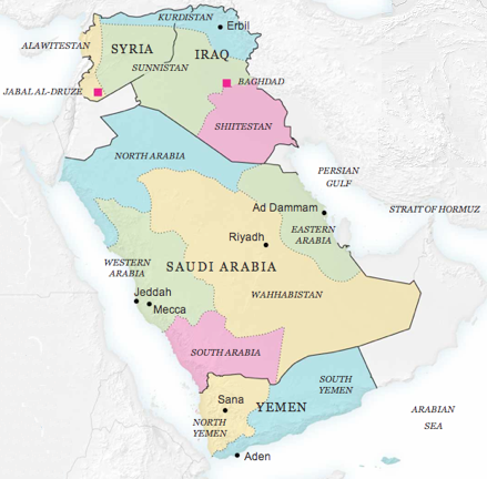 NYT-Map-of-Divided-Middle-East-Adjusted-for-Nazemroaya-Article