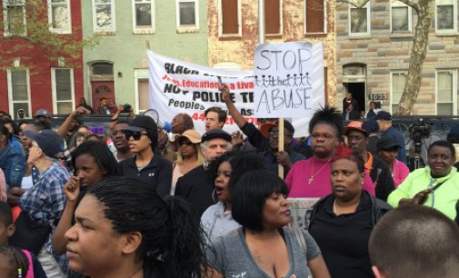 Baltimore protest demands justice for Freddie Gray, murdered by police
