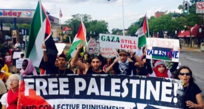 Protest marks start of Israel's 2014 war