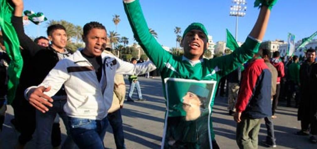 Сторонники Каддафи устроили демонстрацию в поддержку сыновей свергнутого Лидера Джамахирии