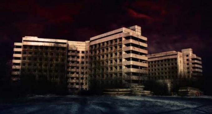 Ховринская заброшенная больница (Москва) Амбрелла