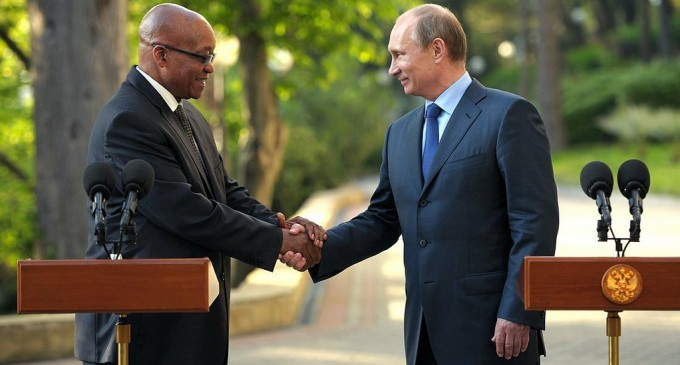 South African President invited Putin to visit South Africa in 2016