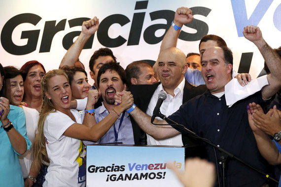 The opposition has won the Venezuela parliamentary elections for the first time in 16 years