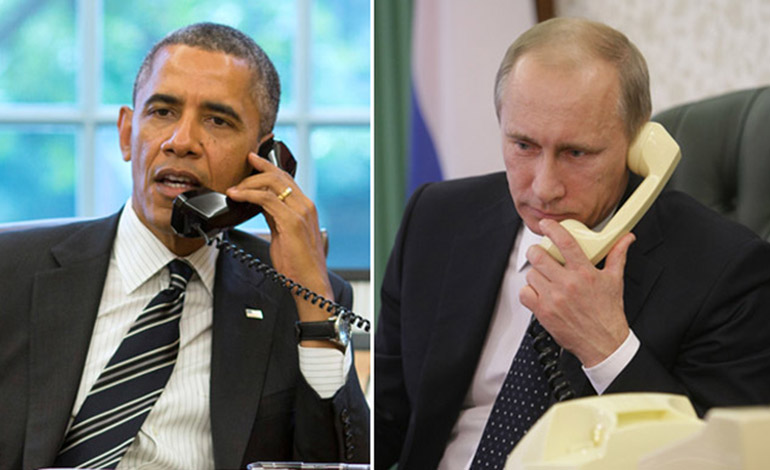 Vladimir Putin and Barack Obama talked by phone for the first time in six months