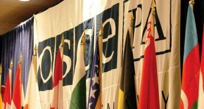 The Russian delegation to the Parliamentary Assembly of the OSCE left its meeting in protest