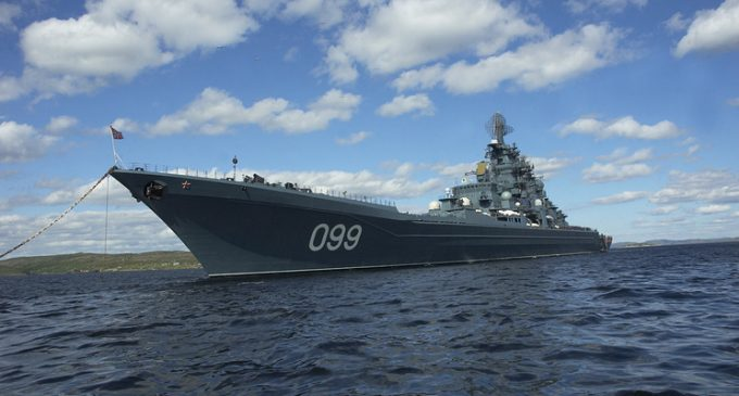 Russian shipborne air task force arrives in Mediterranean