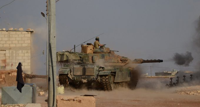 Turkish Military, Free Syrian Army Shell Kurdish Villages in Northern Syria