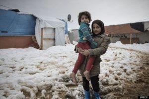 Lebanon, Bekaa Valley. Sisters Rimas 3yo (L) and Suraya 6 yo (R) from Aleppo. Alessio Romenzi