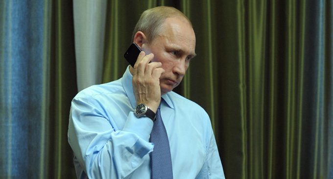 President Vladimir Putin talks over the phoneKremlin Expects to Agree Date of Putin-Trump Phone Talks Soon