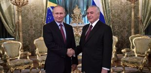 June 21, 2017. President Vladimir Putin and Brazilian President Michel Temer, right, during an official meeting at the KremlinSolid BRICS: Brazil Underlines the Importance of Its Partner Russia