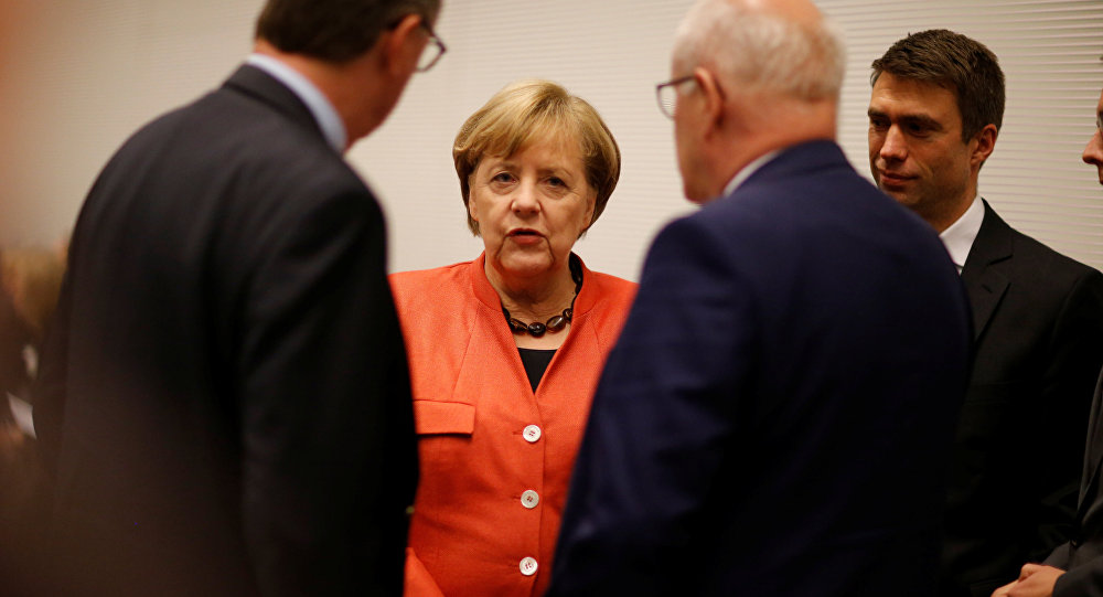 Merkel's Party Throws Support Behind Grand Coalition, But 'Not At Any Price'