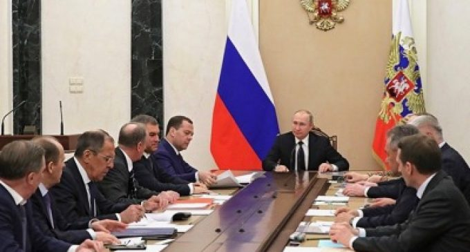 Vladimir Putin convenes the National Security Council of the Russian Federation