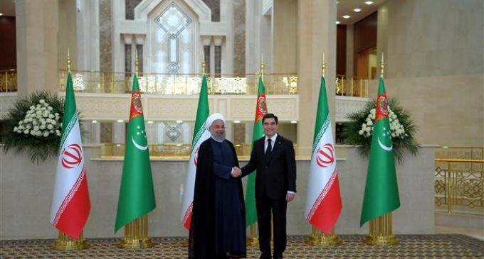 Iran's President Rouhani in Turkmenistan to boost ties