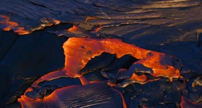 Land spouts observed over Hawaiian lava field
