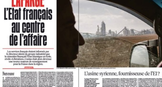 Lafarge was working for the French Secret Services in Syria