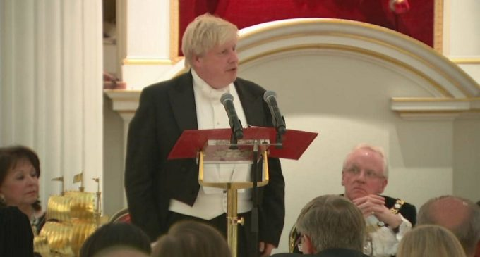 Boris Johnson's Mansion House speech at the Lord Mayor's Easter Banquet 2018 , by Boris Johnson