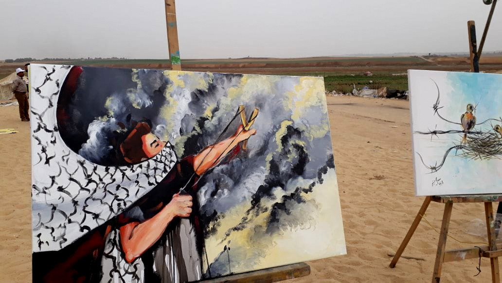 """Painting """"The Return"""" — Hopes and History on the Gaza Border"""