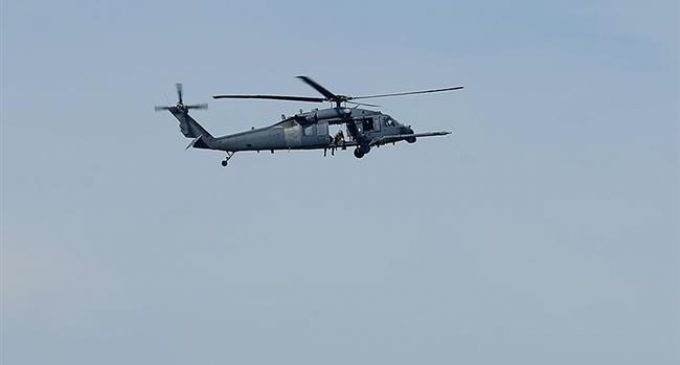 US military helicopter drops box of ammunition on elementary school in Texas