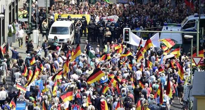Left, right demos sweep Germany's Berlin, AfD supporters outnumbered