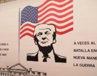Unsettling Trump Mural Greets Children at Detention Center in Former Walmart