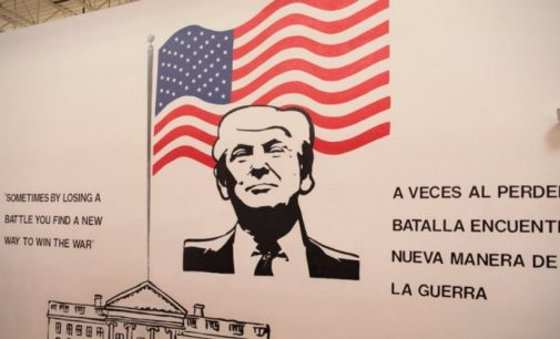 Unsettling Trump Mural Greets Children at Detention Center in Former Walmart
