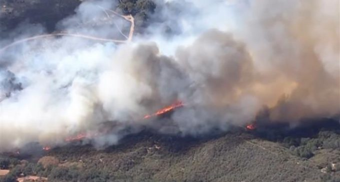 Brush fires force evacuations in California