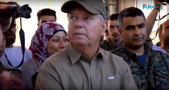 "Lindsey Graham Warns U.S. Withdrawal from Syria Would Be ""Terrible"" During Surprise Visit to Manbij"