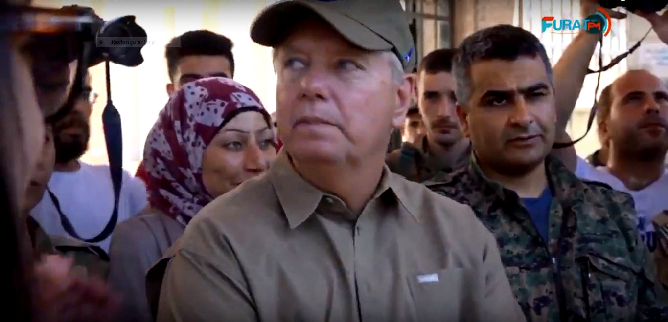 """Lindsey Graham Warns U.S. Withdrawal from Syria Would Be """"Terrible"""" During Surprise Visit to Manbij"""