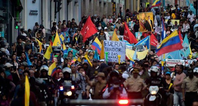 Tensions boil over as Ecuadorans protest against prison order for Correa