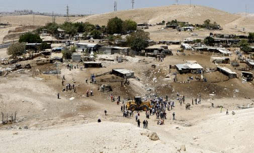 Israel Assaults Palestinians Ahead of the Demolition of West Bank Bedouin Village