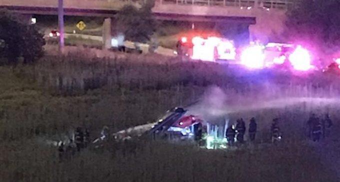 Medical helicopter crashes on Chicago highway, 4 injured