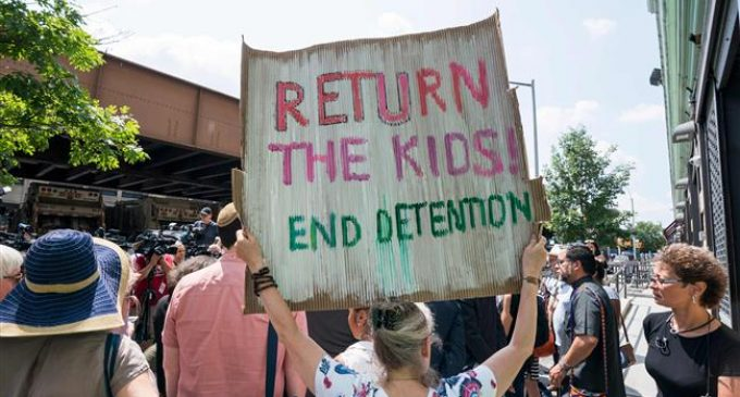 New York activists lash Trump on migrant children