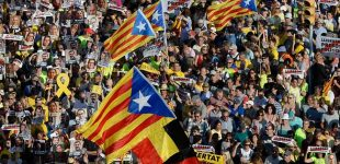 Spain: Solidarity march for imprisoned and exiled Catalan politicians