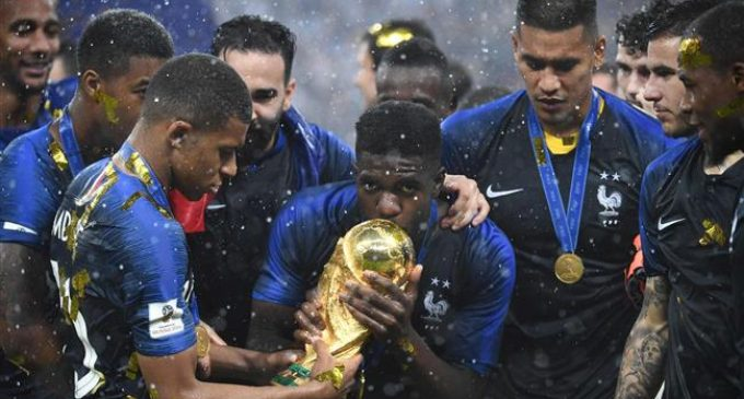 France tops Croatia 4-2 in World Cup final