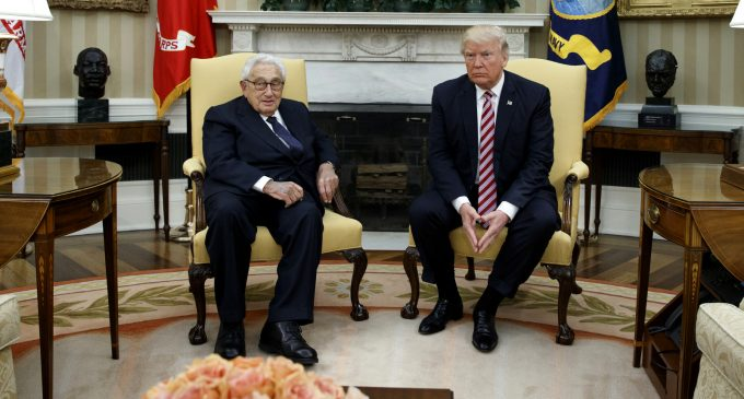 Report: Kissinger Urged Trump Policy of Pursuing Russia to Contain China