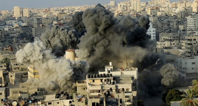 Renewed Airstrikes Ravage Gaza and Destroy Cultural Center Amidst Ceasefire Talks