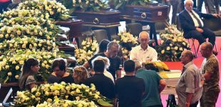 Italy holds funeral for bridge collapse victims
