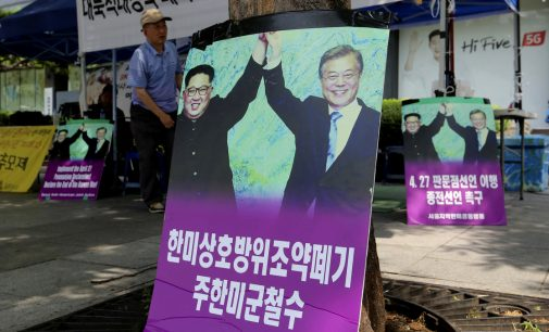 South Korea's Moon Steers Toward Inter-Korean Unity While Wind from Washington Blows in His Face