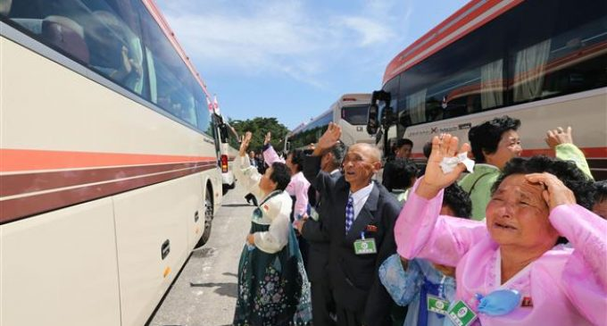 North, South Korean families separated by war say tearful goodbyes