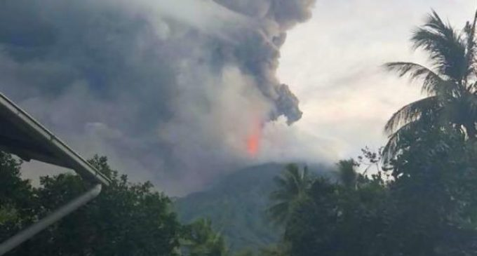 Papua New Guinea volcano erupts, villagers flee