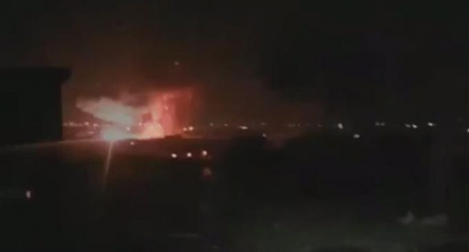 Explosions rock ammo depot at Damascus military airfield