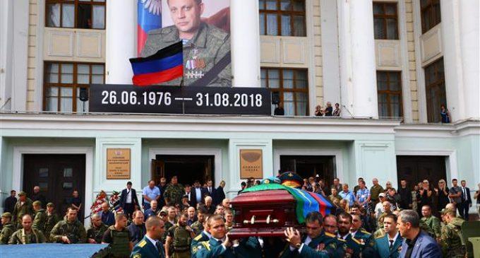 Tearful mourners bid farewell to east Ukraine rebel chief
