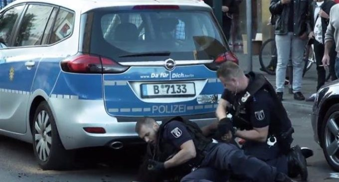 German police savagely beat unarmed black man in Berlin