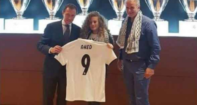Spanish Soccer Team Honors Palestinian Icon Ahed Tamimi in Madrid