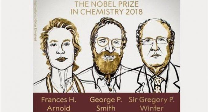Briton, two Americans win 2018 Nobel Chemistry Prize