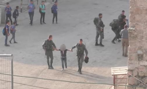 Watch | Israeli Occupation Forces Detain Palestinian Kids Walking to School