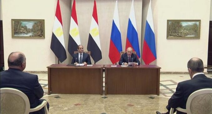 Russia, Egypt leaders sit for talks on regional issues