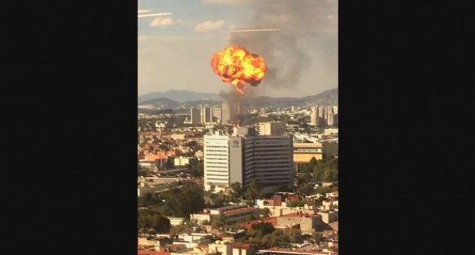 Fire, explosion at an alcohol factory leaves one injured in Mexico City